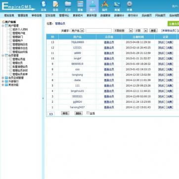 图片作品文章资讯博客网站模板自适应HTML5响应式移动手机帝国CMS后台功能