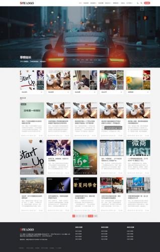 帝国CMS整站模板带会员中心多种栏目列表视频收费播放下载新闻资讯自适应手机HTML5-ecms264