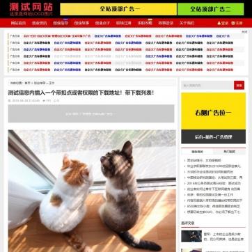 帝国CMS新闻资讯博客自适应HTML5整站模板支持手机收费视频下载