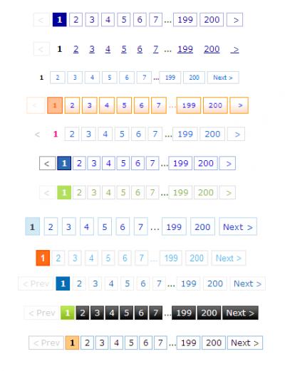 div css样式表制作24款css分页样式