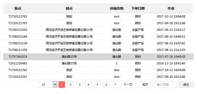 jQuery带分页动态数据表格插件